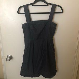 Ann Taylor Chambray Denim Button Peplum Dress